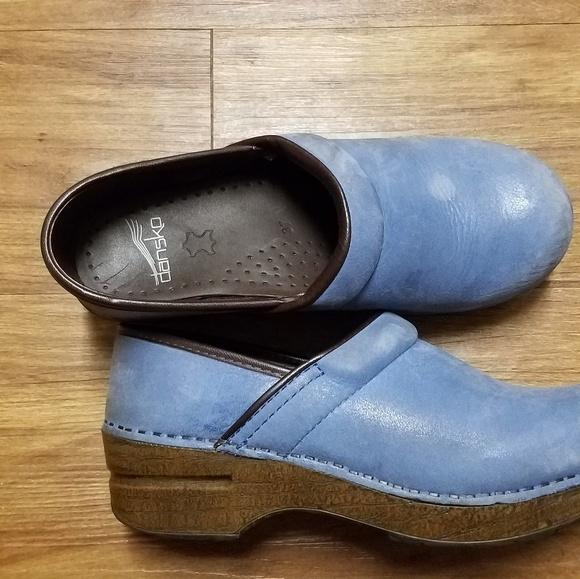 Dansko Shoes | Dansko Blue Suede Clogs